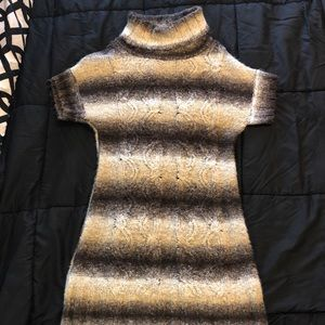 Brown shades sweater dress size S